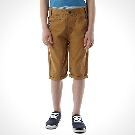 RJR.John Rocha - Boy+s camel drop crotch shorts