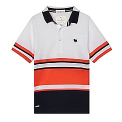 J by Jasper Conran - Boys' white striped colour block polo shirt