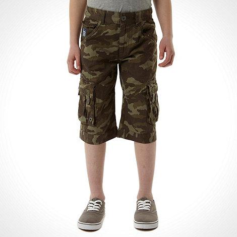 RJR.John Rocha - Designer boy+s khaki camo shorts