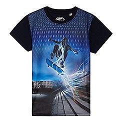 bluezoo - Boys' blue skater print t-shirt