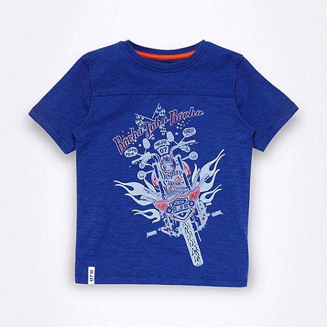 RJR.John Rocha - Designer boy+s blue motorbike printed t-shirt