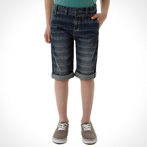 RJR.John Rocha - Designer boy+s navy denim tribal shorts