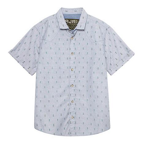 RJR.John Rocha - Designer boy+s blue jacquard shirt