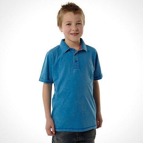 RJR.John Rocha - Designer boy+s blue wash polo shirt