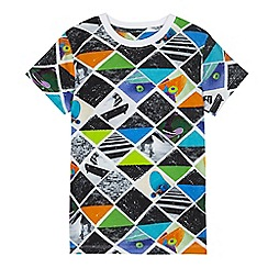 bluezoo - Boys' multi-coloured triangle skate print t-shirt
