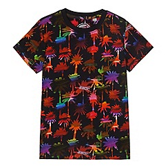 bluezoo - Boys' black palm tree print t-shirt
