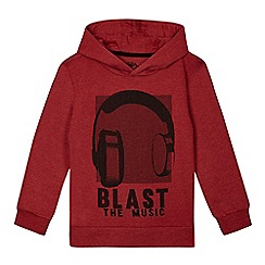 bluezoo - Boys' red headphones print hoodie
