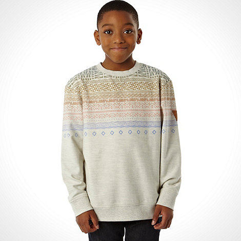 RJR.John Rocha - Designer boy+s off white tribal striped sweater