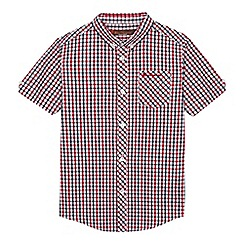 Ben Sherman - Boys' red and navy checked shirt