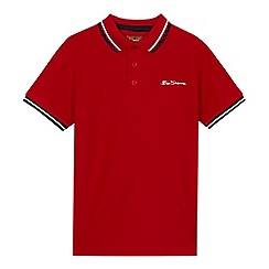 Ben Sherman - Boys' red pique polo shirt