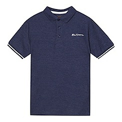 Ben Sherman - Boys' blue pique polo shirt
