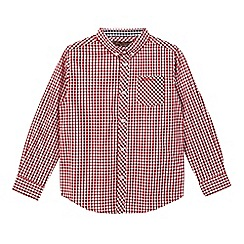 Ben Sherman - Boys' red gingham print shirt