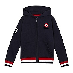 Ben Sherman - Boys' navy zip through hoodie