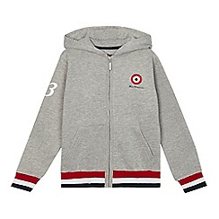 Ben Sherman - Boys' grey zip through hoodie