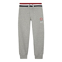Ben Sherman - Boys' grey logo print jogging bottoms