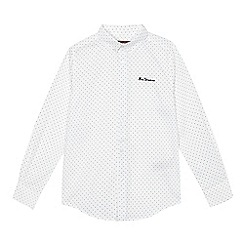Ben Sherman - Boys' white polka dot print shirt