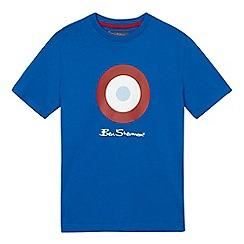 Ben Sherman - Boys' blue target print t-shirt