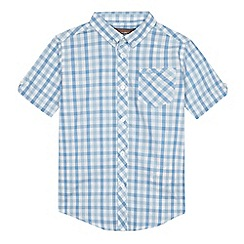 Ben Sherman - Boys' light blue gingham print shirt