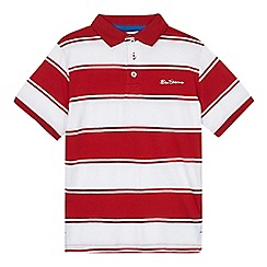 Ben Sherman - Boys' red and white polo shirt