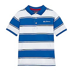 Ben Sherman - Boys' blue and white polo shirt