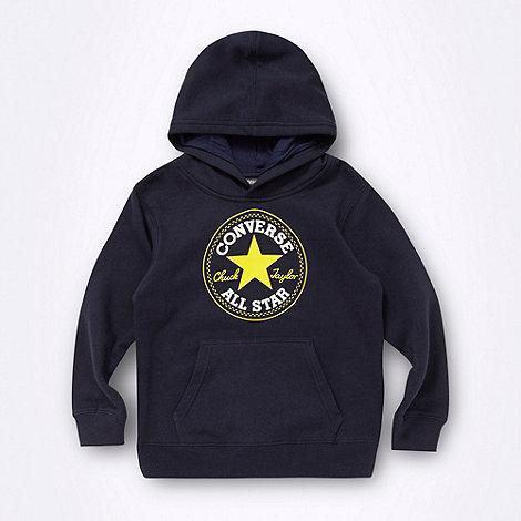 Converse - Boy+s navy +Chuck Taylor+ hoodie