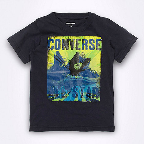 Converse - Boy+s navy graphic +All Star+ t-shirt