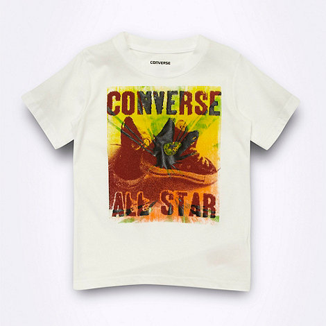 Converse - Boy+s white graphic +All Star+ t-shirt