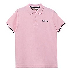 Ben Sherman - Boys' pink pique polo shirt