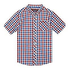 Ben Sherman - Boys' multi-coloured short-sleeved gingham shirt