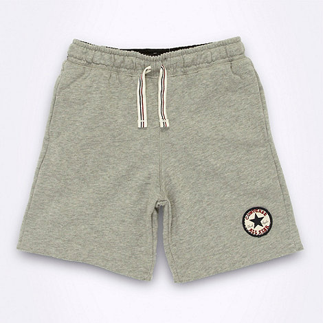 Converse - Boy+s grey sweat shorts