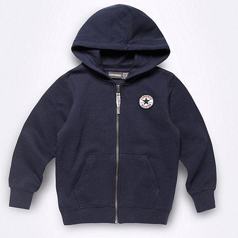 Converse - Boy+s navy sweat hoodie