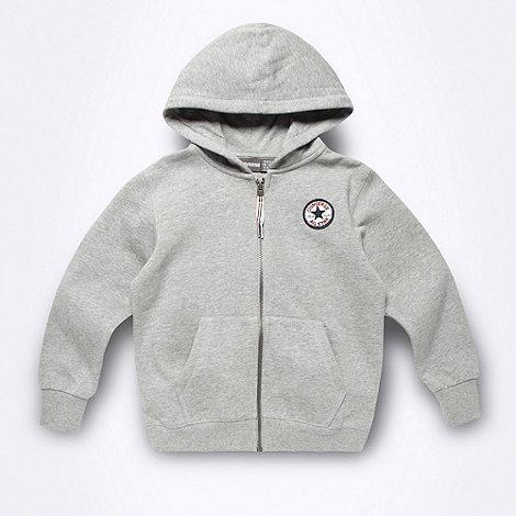Converse - Boy+s grey sweat hoodie