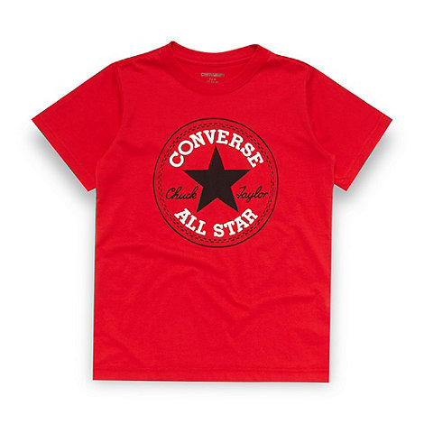 Converse - Boy+s red logo t-shirt