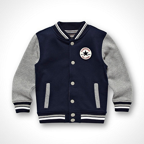 Converse - Boy+s navy baseball jacket