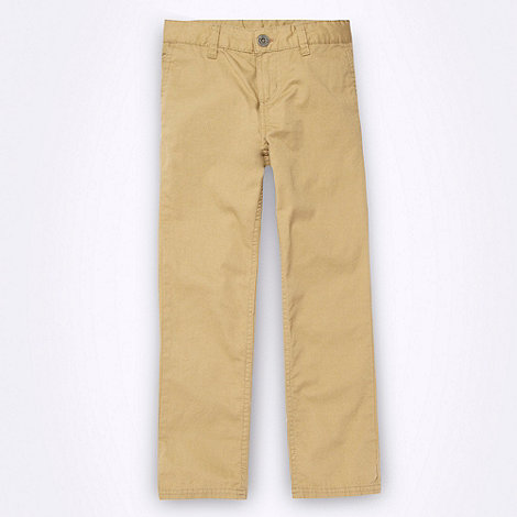 Ben Sherman - Boy+s beige five pocket chinos