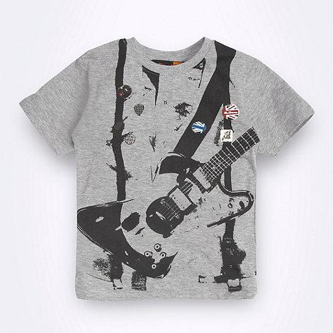 Ben Sherman - Boy+s grey guitar graphic t-shirt