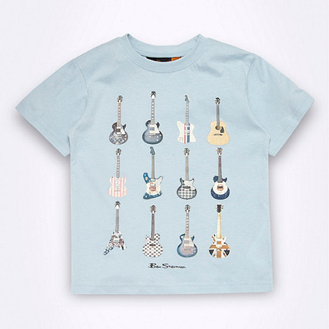 Ben Sherman - Boy+s light blue graphic guitar print t-shirt
