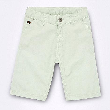 Ben Sherman - Boy+s light green chino shorts