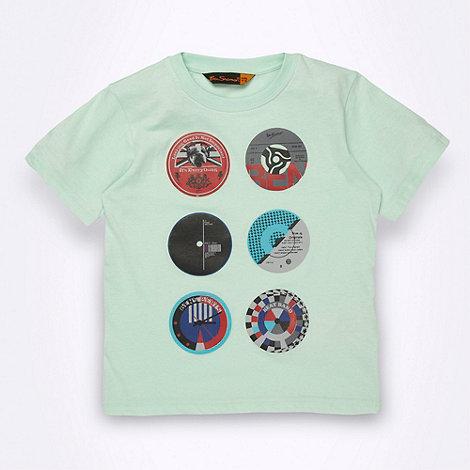 Ben Sherman - Boy+s light green record label t-shirt