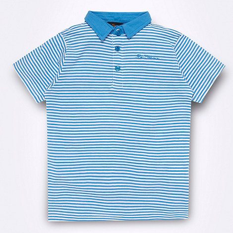 Ben Sherman - Boy+s blue striped polo shirt