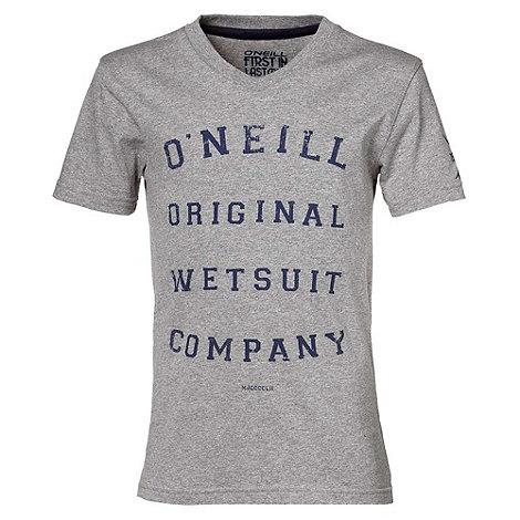O+Neill - Boy+s grey script logo t-shirt