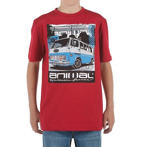 Animal - Boy+s red camper van print t-shirt