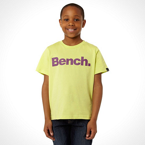 Bench - Boy+s yellow logo printed t-shirt