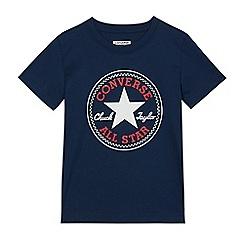 Converse - Boys' navy 'Converse' t-shirt