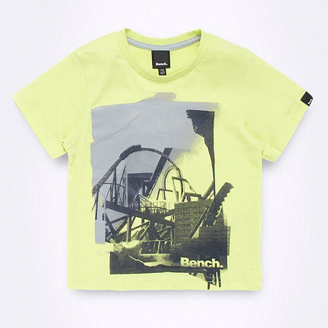 Bench - Boy+s lime pixel image t-shirt