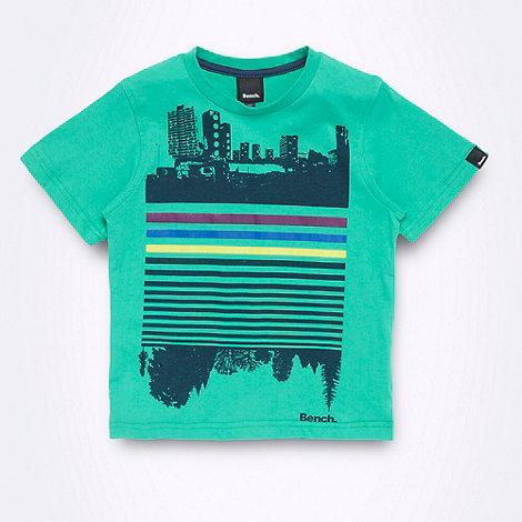 Bench - Boy+s green city silhouette motif t-shirt