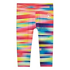 Converse - Girls' multi-coloured pixel printed leggings