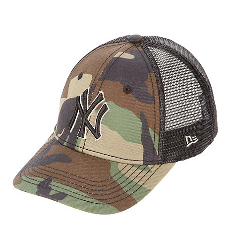 NYC - Boy+s khaki camouflage and mesh baseball cap