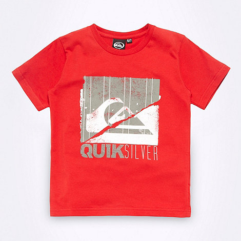 Quiksilver - Boy+s red square logo t-shirt