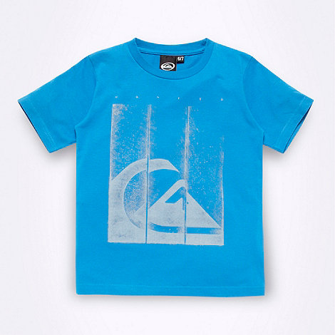 Quiksliver - Boy+s blue square logo t-shirt